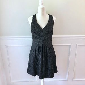 ANTHROPOLOGIE Leifsdottir  Lace Black Dress 10